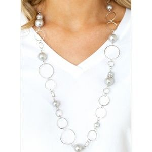 Paparazzi - Silver - Necklace & Earrings - #209